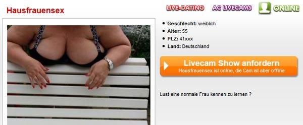 Versaute Hausfrau Sexcam